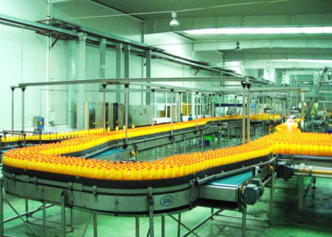 Automated Fruit Juice Beverage Production Line Packaging Conveyor Systems