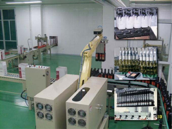 Robotic Automatic Case Packer Machine PLC Control High Speed For Drink Bottles