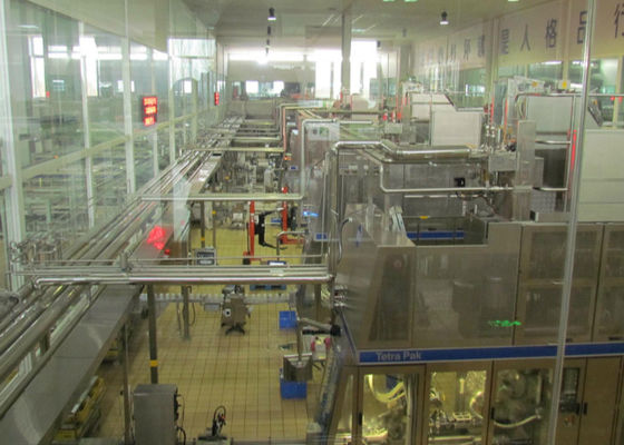 China Automated Dairy Milk Production Line Packing Conveyor Systems supplier