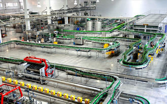 China Glass Bottle Beer Production Line Packing Conveying Process 12 Months Warranty supplier