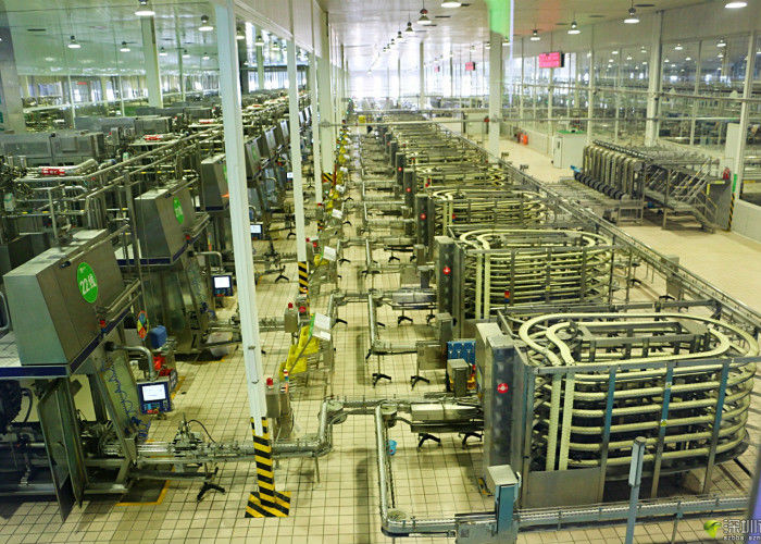 Automated Brick - Shape Packaged Dairy Production Line For
