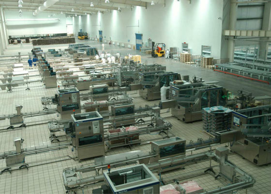 Pillow - Shape Packaged Dairy Production Line , Milk Products Manufacturing Machines