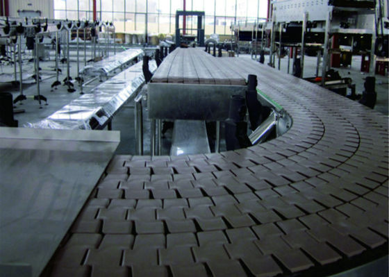 Stainless Steel Plate Automated Conveyor Systems Stable Structure Smooth Transition