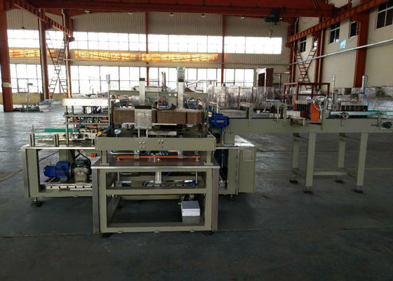 Drop Type Bottle Automatic Case Packer Machine , Case Packaging Systems Shrink Wrap