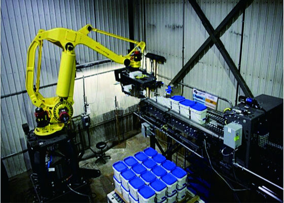 Horizontal Robots / Robotic Palletizing System Single Column For Big Bags / Barrels